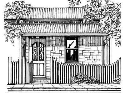 House Facade Drawing