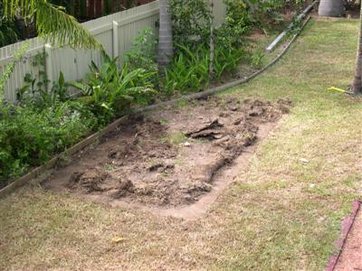 Dead Grass - The Reason? A Concrete Pad!