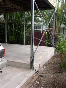 The Front of the slab is 50cm above the ground level