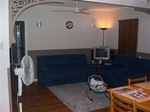 The new layout of the living room.