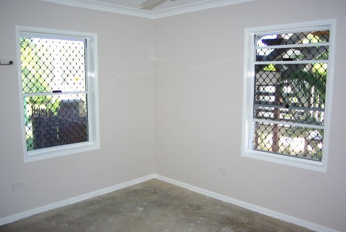 Bedroom Painted White Shadow with Gloss White Trim