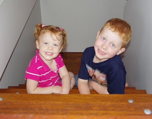 Kids on the Stairs