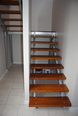 Our Open Staircase with Metal Frame and Timber Treads