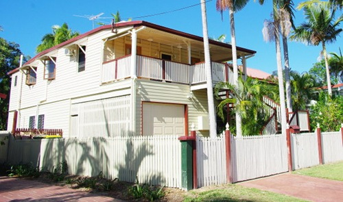 Front of our Raised Queenslander House