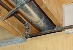 Safe Clearance Around Heating Ductwork