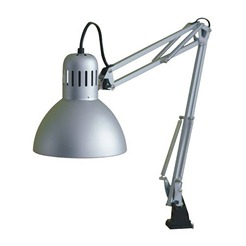 Ikea Tertial Work Lamp Silver Colour
