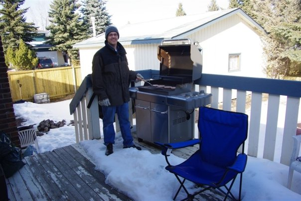 Cooking on the BBQ in Canada in the Winter