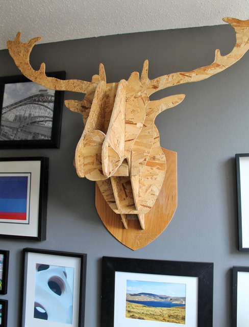 Wall Mounted Wooden Animal Heads