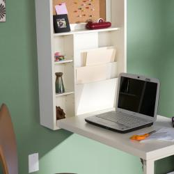 White Fold-Out Murphey Convertible Desk