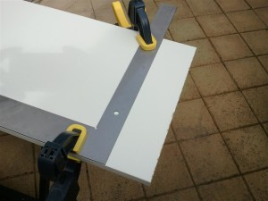 Cut the Melamine Shelf to 1135mm