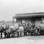 House Being Moved by Horses
