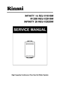Rinnai R1200 Service Manual